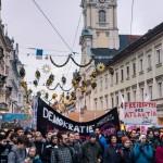 Graz: Demo gegen Freihandelsabkommen und TTIP in Graz & Fotos