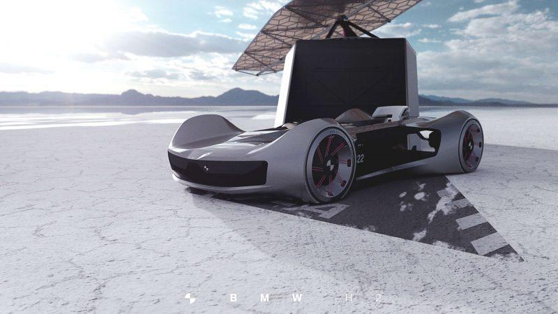 ·         Das BMW H2 Concept von Philipp Fromme ist ein agiler, einsitziger Roadster, der mit Wasserstoff betrieben wird. Master-Arbeit FH JOANNEUM Industrial Design in Kooperation mit BMW