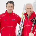 Sportstadtrat Kurt Hohensinner (li) und Sportamts-Chef Gerhard Peinhaupt testeten die freigegebene Loipe gleich selbst   Fischer
