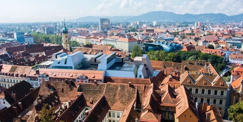 Toll: Der Blick über Graz vom Schloßberg