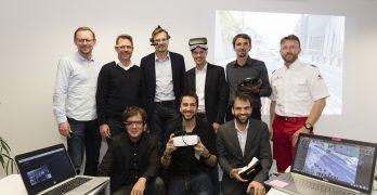 """01: Ein Teil der steirischen """"Smart-Vision-Community"""": hinten v.l.: Stefan Mooslechner (CodeFlügel), Roland Toch (Wirecard CEE), Hannes Walter (Evolaris), Thomas Mrak (Impulszentrum Graz-West), Mario Fraiß (IoT Austria), Helmut Aschbacher (Rotes Kreuz, Campus02) vorne v.l. Jörg Halbacher (AULA x Space), Stefan Ponsold (Exchimp/SunnyBAG), Thomas Thurner (Mindconsole)"""