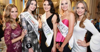 Foto: Veranstalterin Kerstin Zacharias, Sarah Posch (Vize Miss Styria & Vize Miss Austria 2018), Justine Bullner (Miss Styria 2018), Marlene Tropper (3. Miss Styria 2018) und Veranstalterin Stefanie Kogler (Credit: Jean van Luelik)