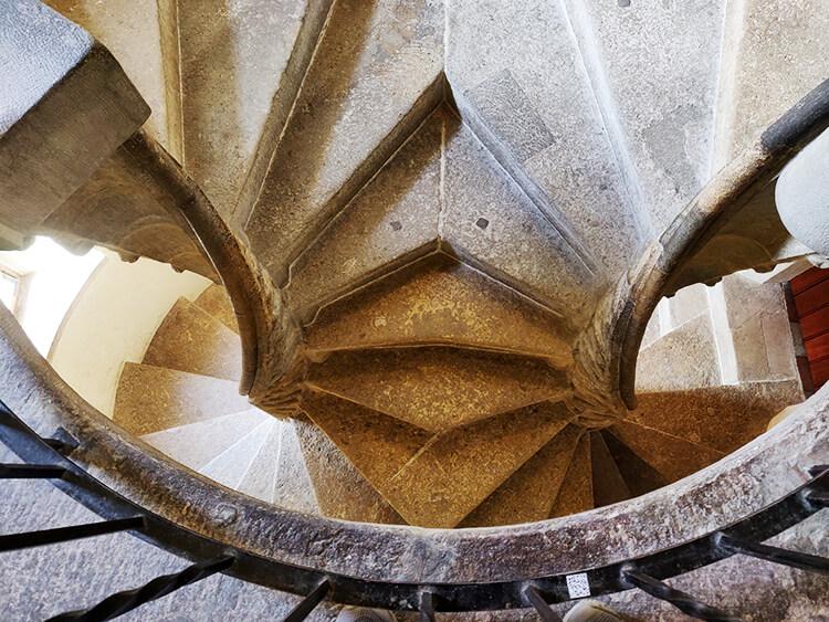 Die Doppelwendeltreppe in der Grazer Burg