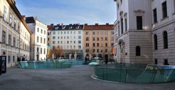 Das Joanneumsviertel mit dem Naturkundemuseum und der Neuen Galerie