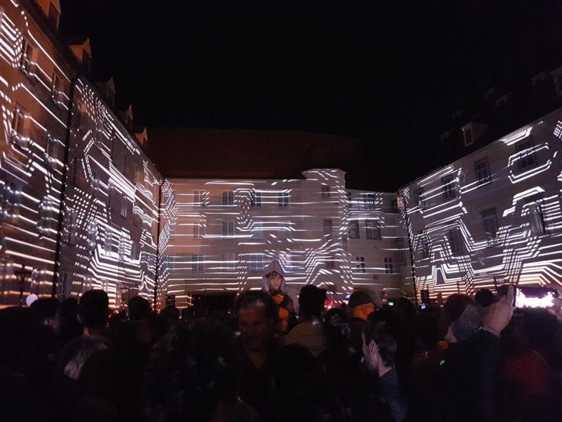 Die Grazer Burg als Leinwand bei Klanglicht