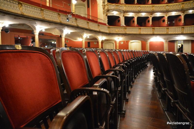 Die Sitzreihen der Oper Graz