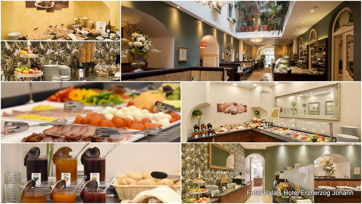 Frühstücksbuffet im Palais Hotel Erzherzog Johann