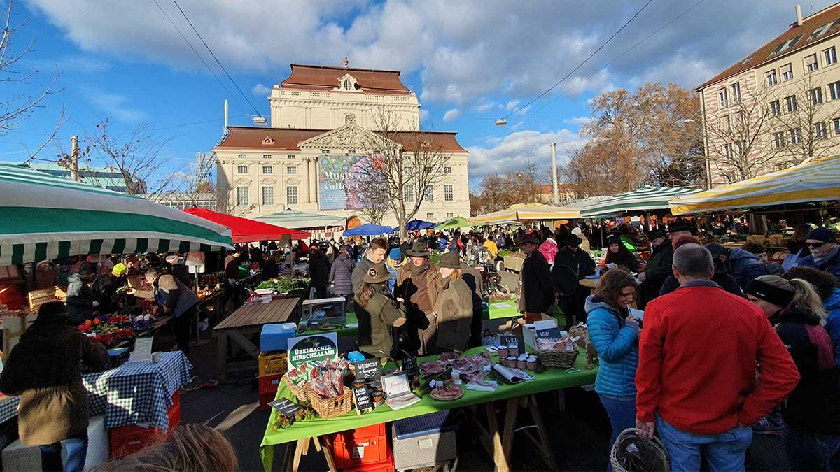 Bauernmarkt am Kaiser-Josef-Platz