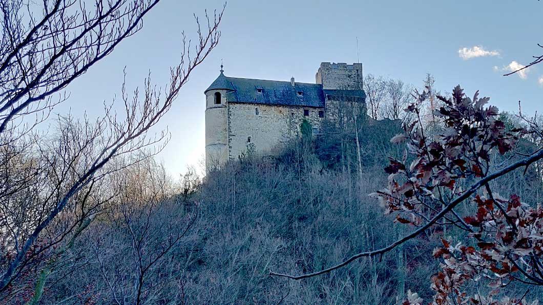Burgruine Gösting vom Jungfernsprung aus Fotografiert